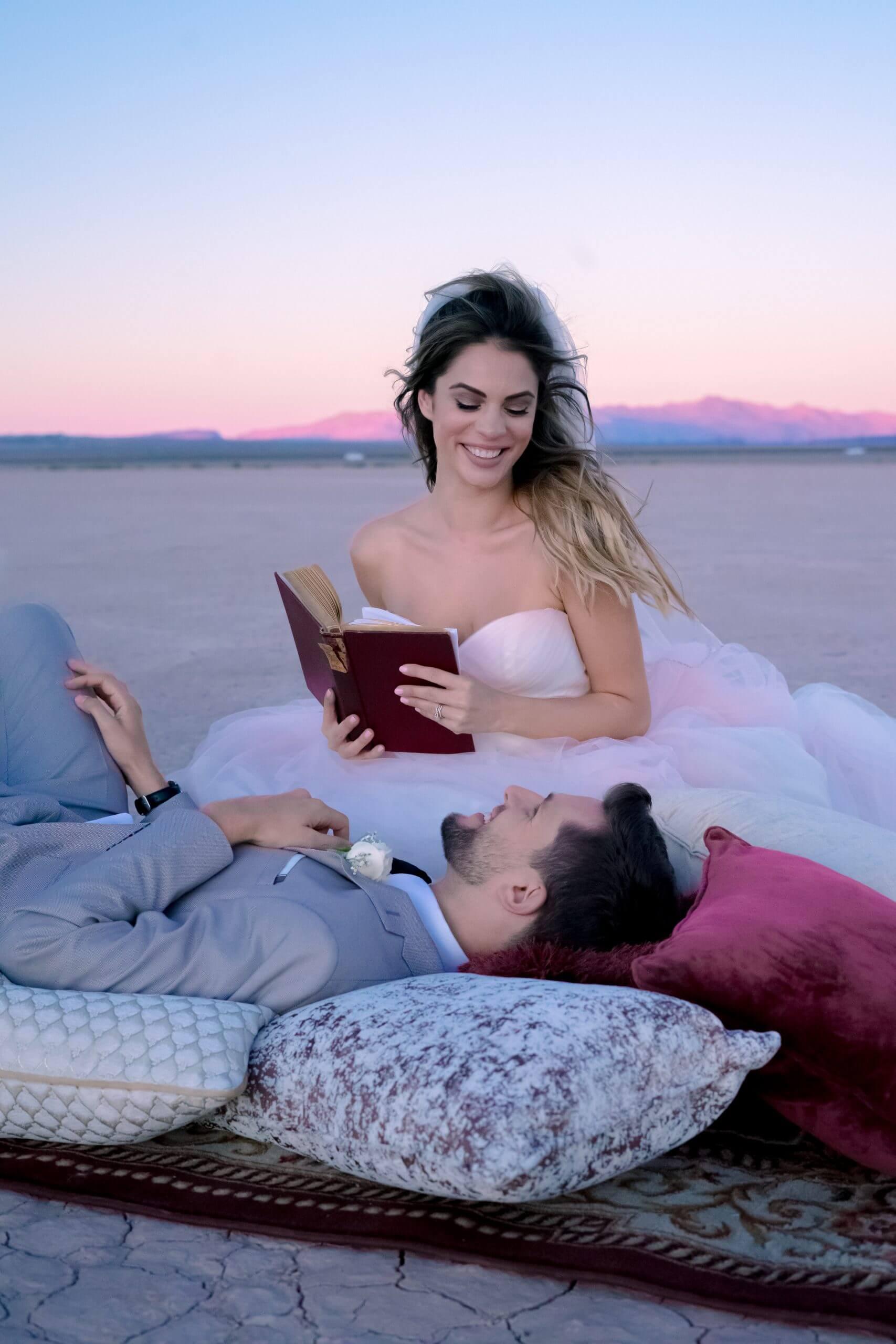 Mariage au Dry Lake Bed dans le Nevada