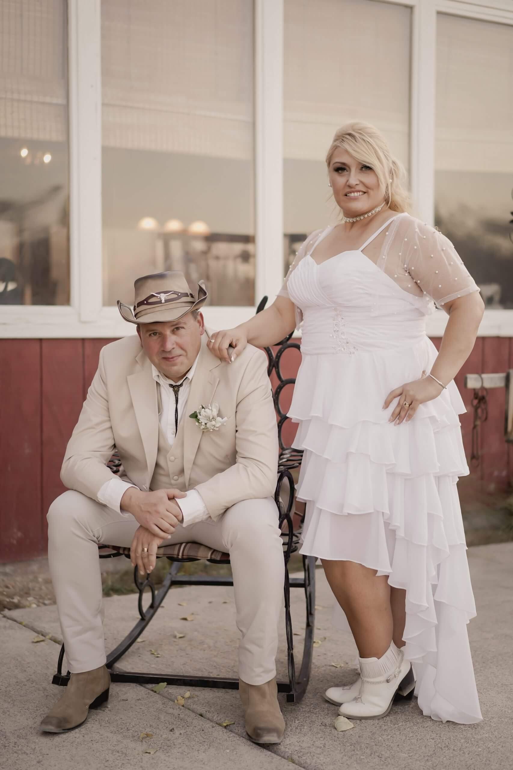 Mariage dans un ranch américain à Las Vegas