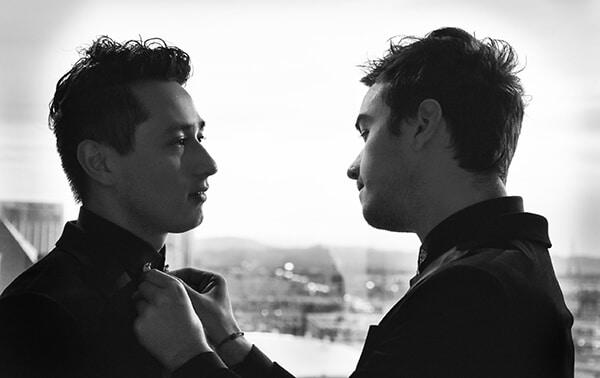 couple gay qui se marie à las vegas